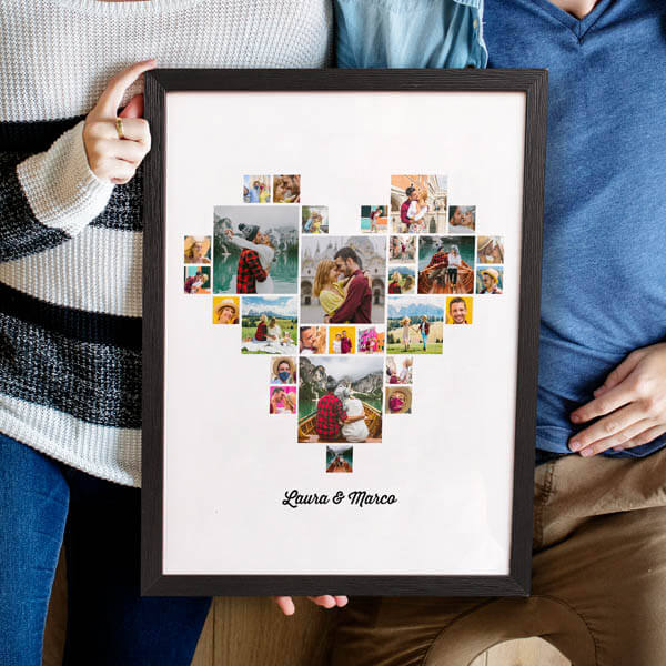 Stampa Poster Collage Cuore Poster 30x40 con astine o cornici